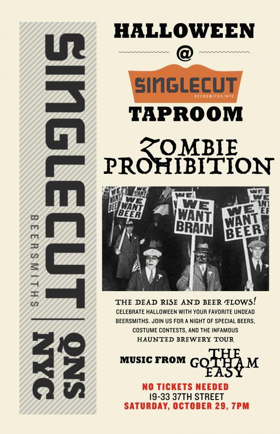 singlecut-halloween-zombie-poster