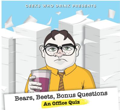 TAP ROOM- BEERS BEATS BONUS QUESTIONS: AN OFFICE QUIZ